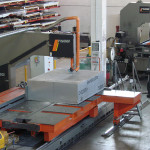Band saw to cut  plates and blocks in Aluminium up to 900 x 1500 x 4000mm
